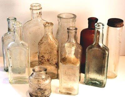 Tiny Old Bottles