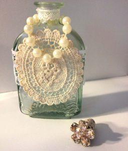Tiny Bottle with Rhinestone Cork