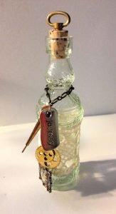 Tiny Bottle with Saying
