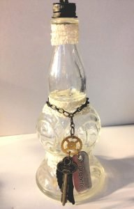 Tiny Bottle with Charms