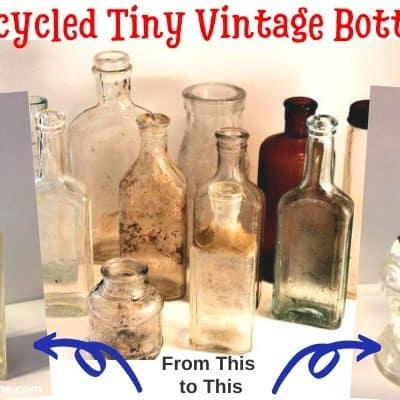 Upcycled Tiny Bottles