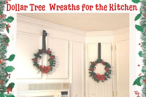 DIY Dollar Tree Wreaths for the Kitchen