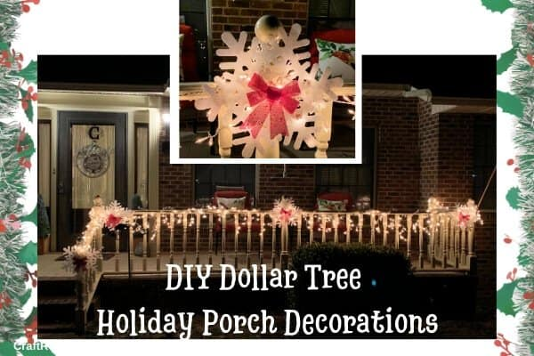 DIY Dollar Tree Holiday Porch Decorations