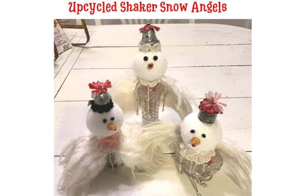 Upcycled Shaker Snow Angels