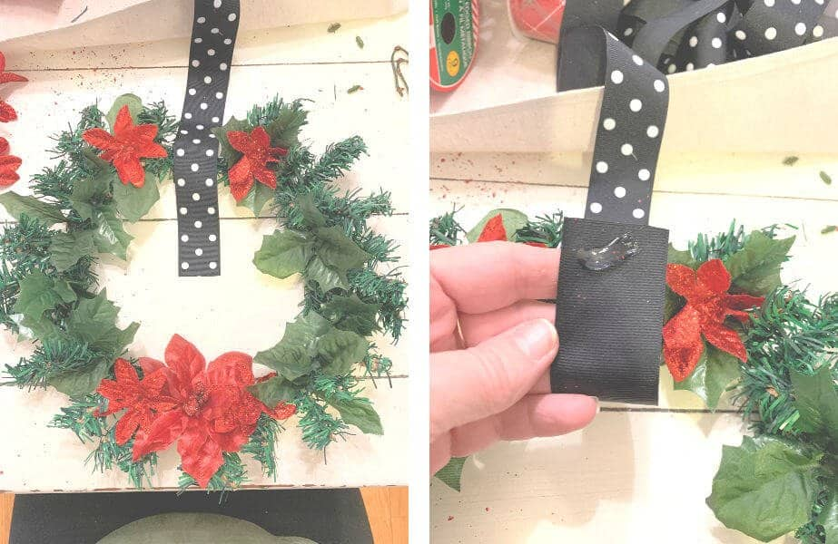 Attach Ribbon to Wreath