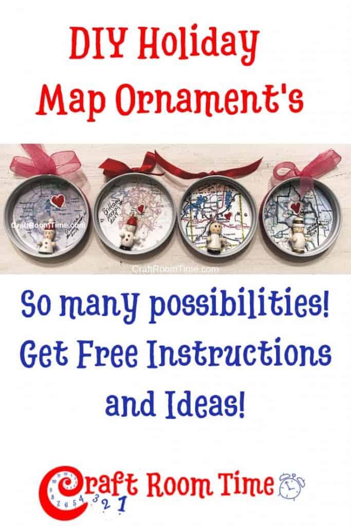 DIY Holiday Map Ornaments