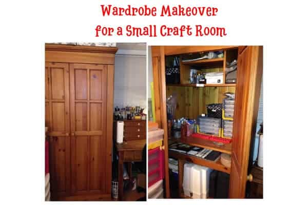 Wardrobe Makeover for Small Craft Room