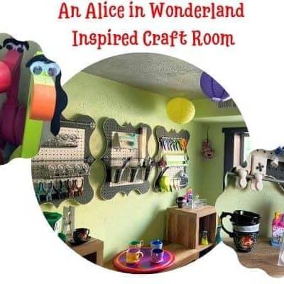 Alice in Wonderland Inspired Craft Room