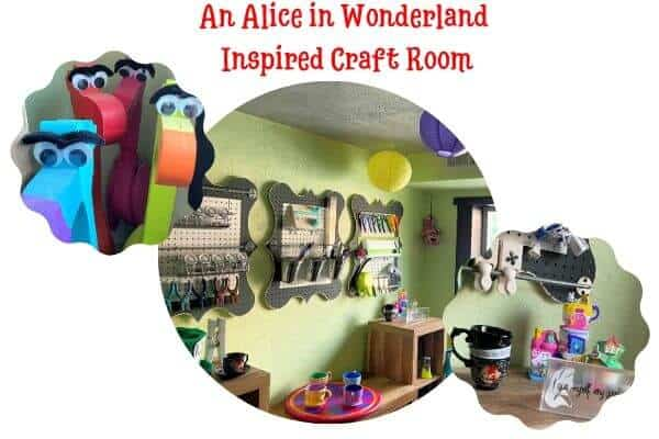 Alice in Wonderland Inspired Craft Room
