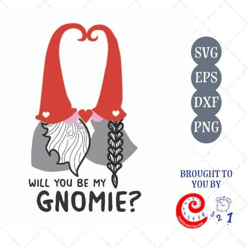 Will you be my Gnomie? SVG