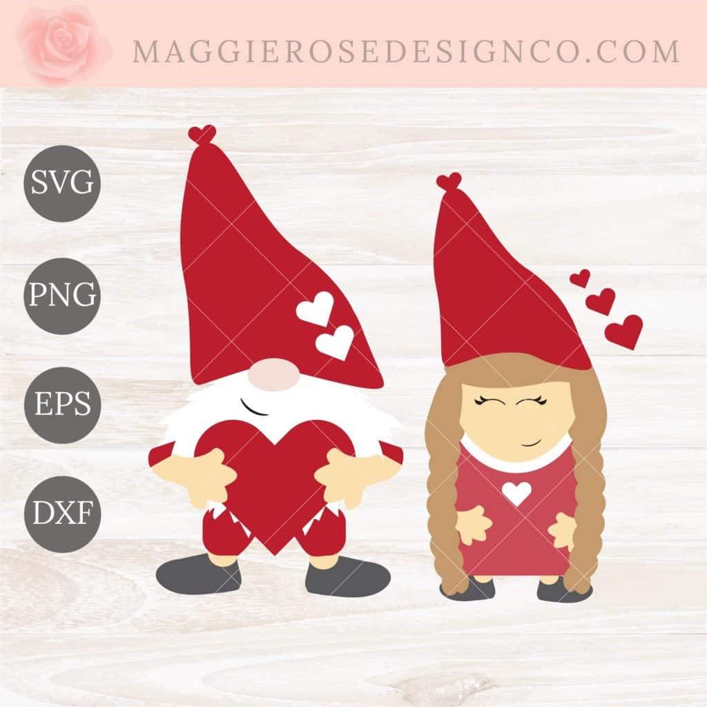 Valentine Gnome SVG
