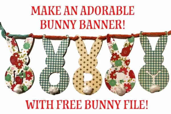 Adorable Bunny Banner Design for Cricut