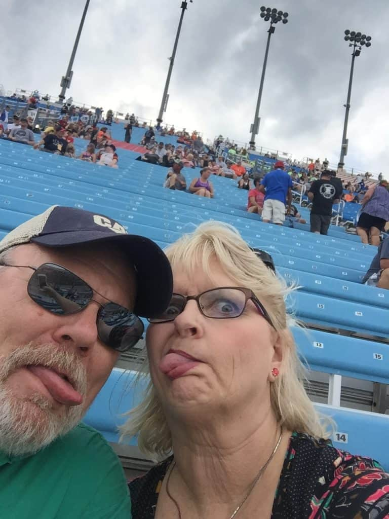 Me and Hubby at Nascar