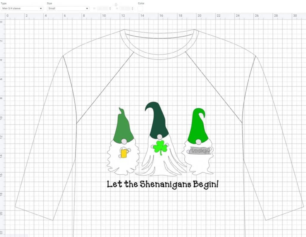 St Patrick's Day Gnomes T-Shirt