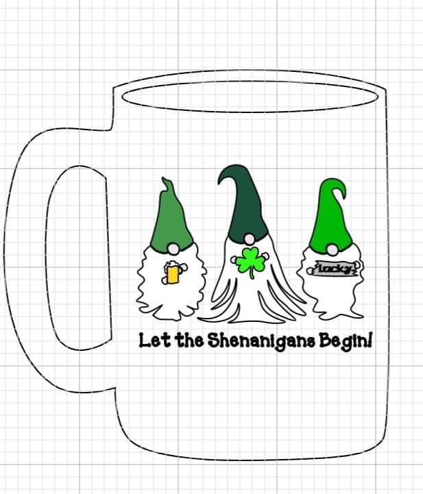St Paddys Day Gnomes Mug
