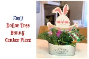 Easy Dollar Tree Bunny Centerpiece