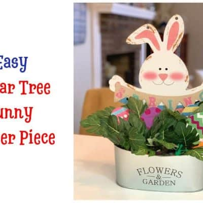 Easy Dollar Tree Bunny Centerpiece