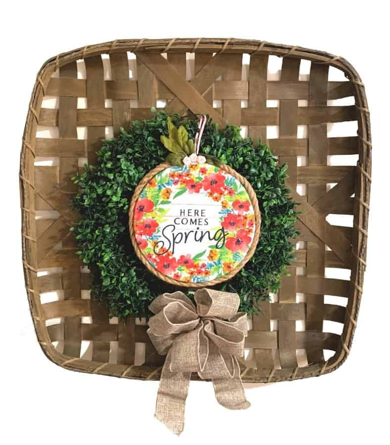 Small Dollar Tree Spring Wreath