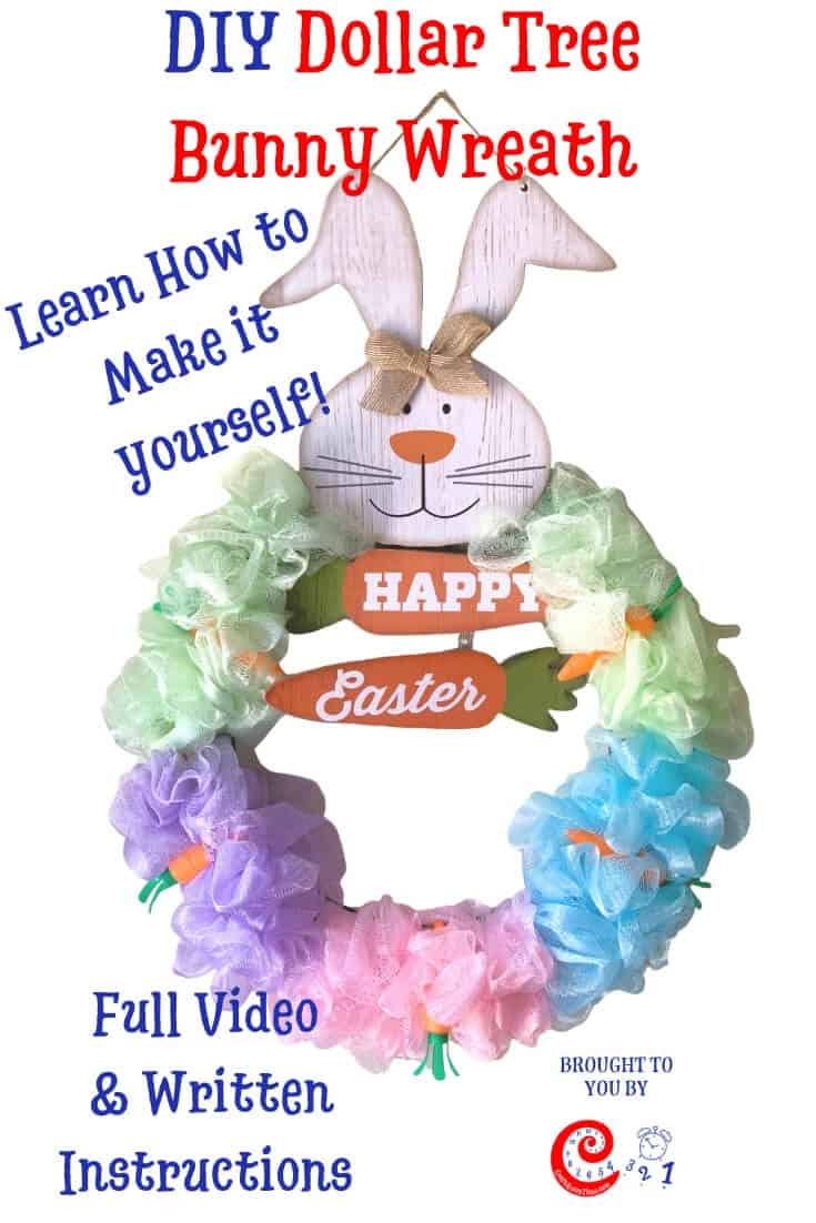 DIY Dollar Tree Bunny Wreath