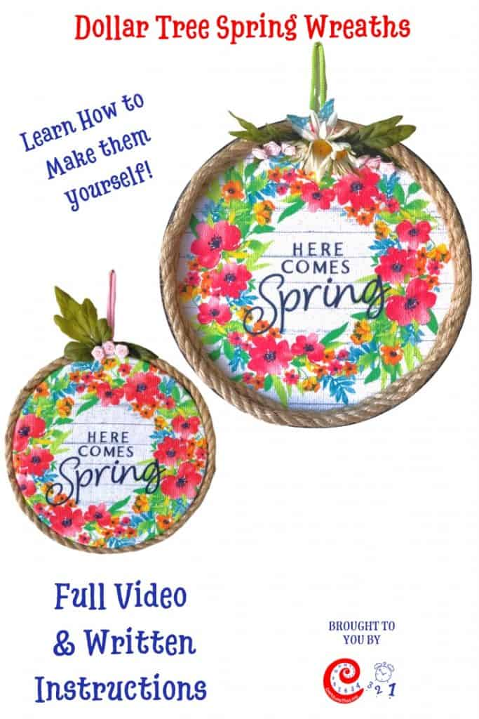 Dollar Tree Spring Wreath from Stove Covers
