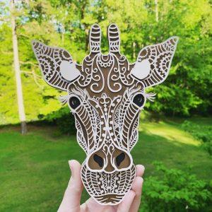 3D Mandala Giraffe for Cricut