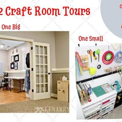 2 Craft Room Tours Big and Small
