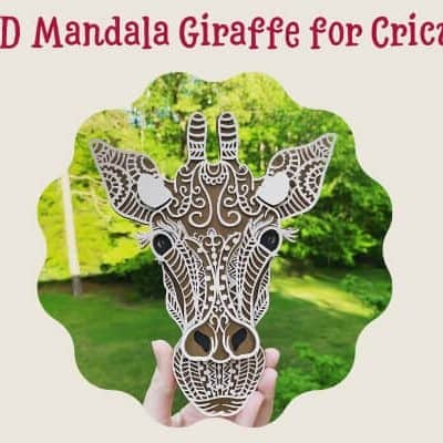 3D Mandala Giraffe for Cricut