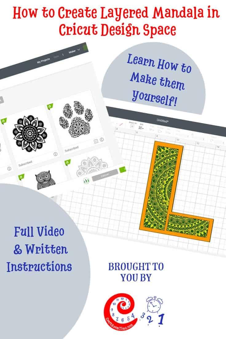 How to Create Layered Mandala in Cricut Design Space