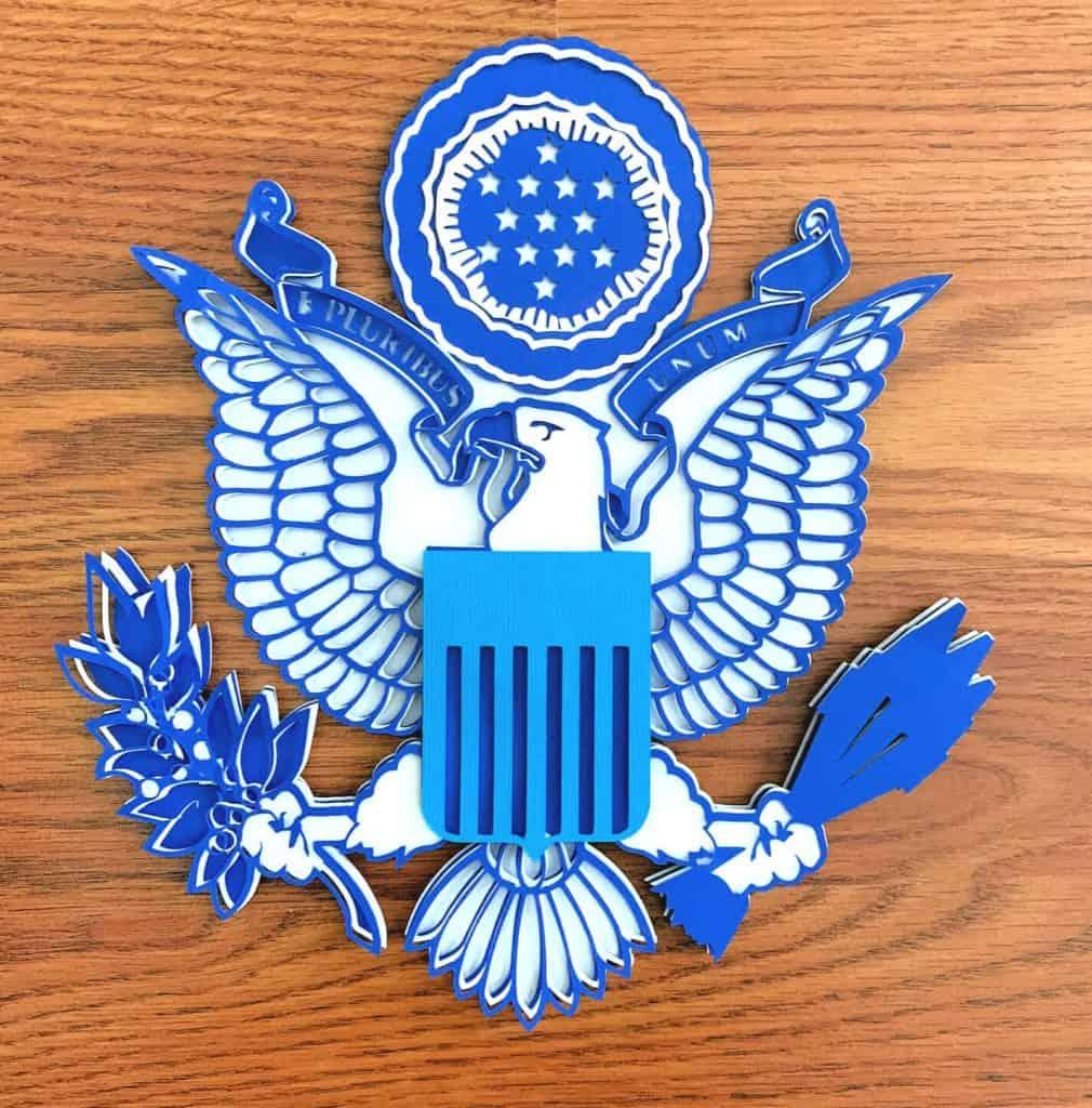 Memorial Day United States Eagle Emblem