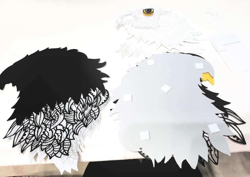 3D Eagle Mandala and Flag
