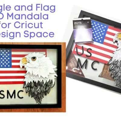 Eagle and Flag 3D Mandala for Cricut Design Space