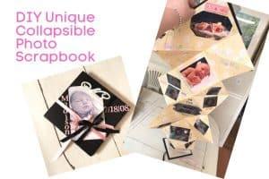 DIY Unique Collapsible Photo Scrapbook