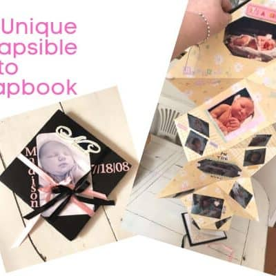 DIY Unique Collapsible Photo Scrapbook