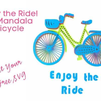 3D Layered Mandala Enjoy the Ride Bicycle