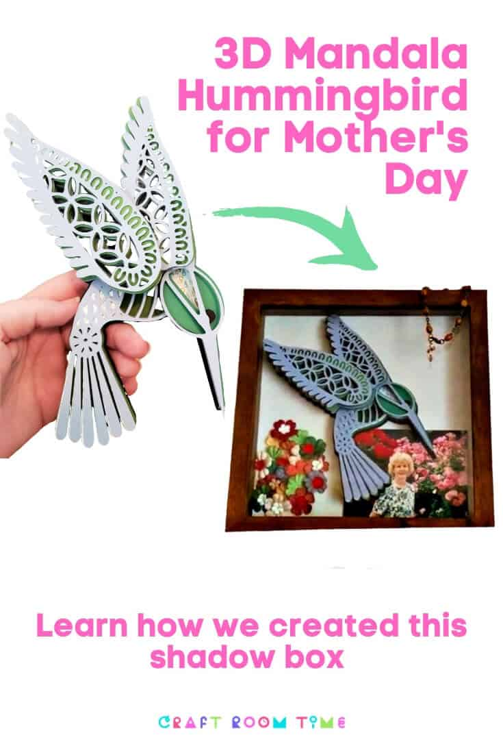 3d Mandala Hummingbird for Mother's Day