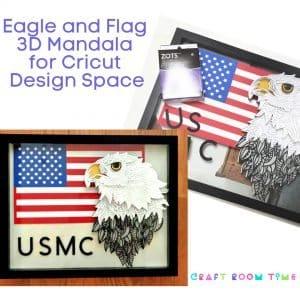 Eagle and Flag 3D Mandala for Cricut Design Space