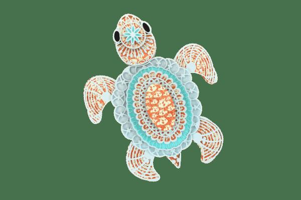 3d Mandala Sea Turtle