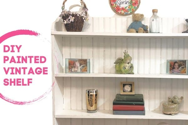 Antique Shelf Makeover