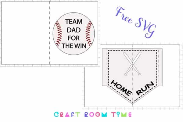 Layered Baseball Pop Up Card for Dad with Free SVG
