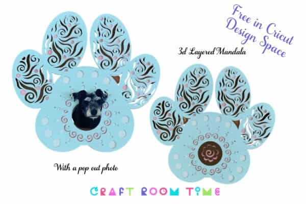 Dog Paw Layered 3D Mandala for Cricut