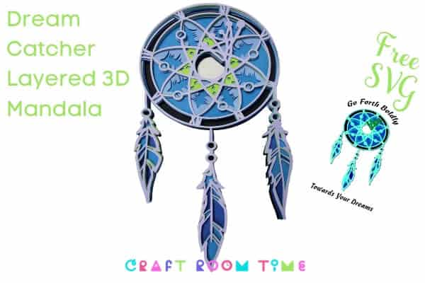 Dream Catcher Layered 3D Mandala Free SVG