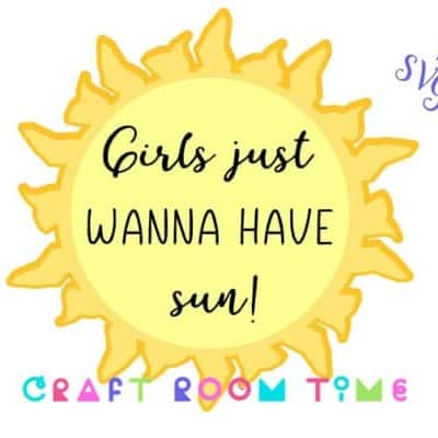 Girls Just Wanna Have Fun Free SVG