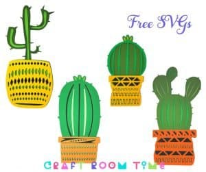 Potted Cactus Plants Free SVGs