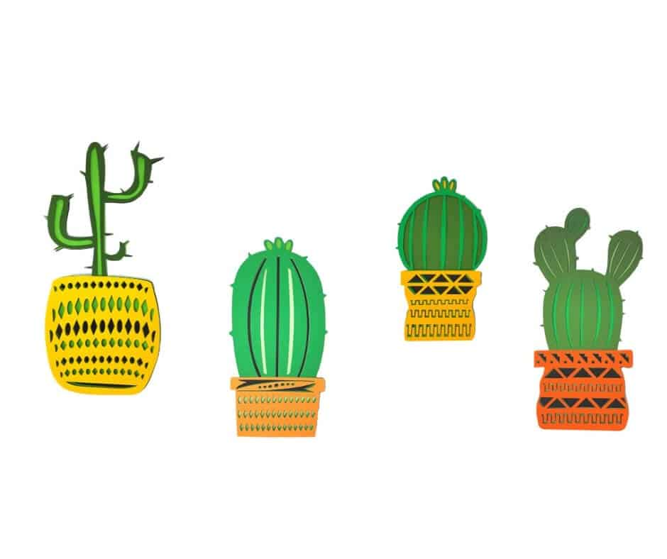 Cacti Layered Mandalas