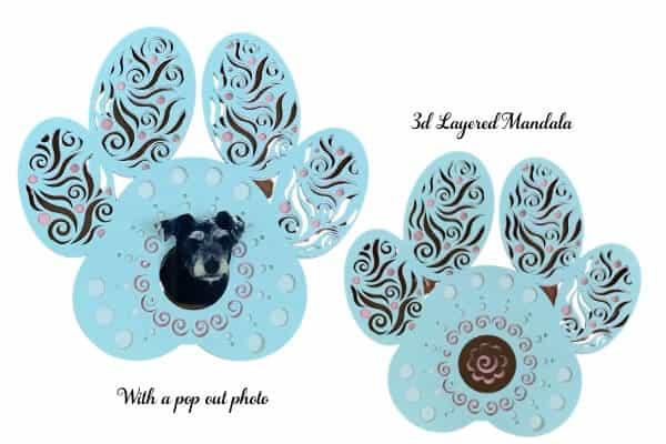 Dog Paw Layered 3d Mandala for Cricut