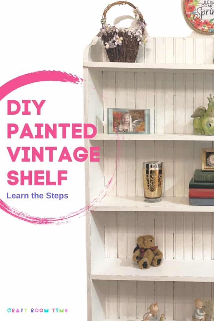 DIY Antique Shelf Makeover