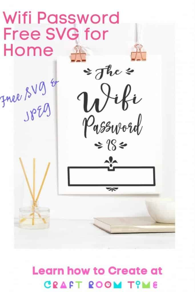 Wifi Password Free SVG for Home