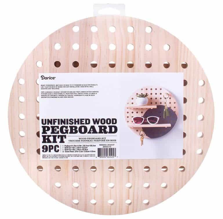 Wooden Pegboard