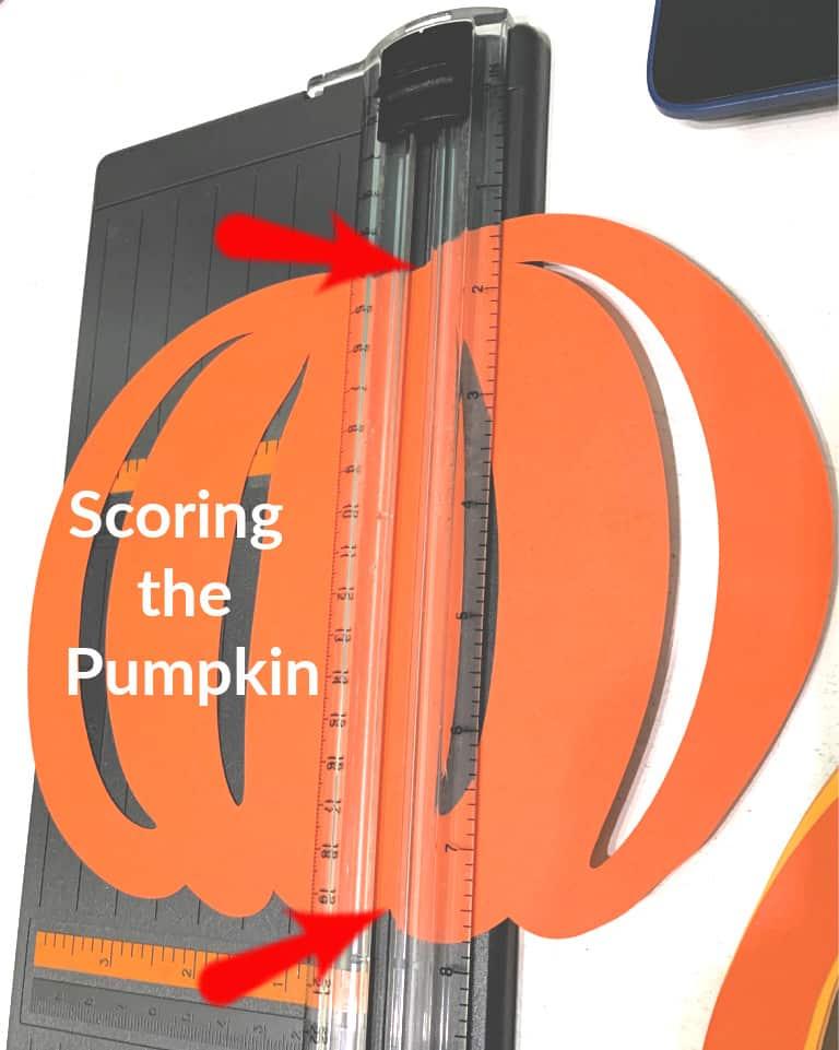 Score Lines on Pumpkin