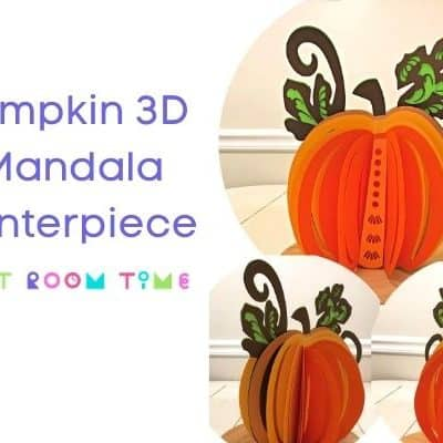 Pumpkin 3D Mandala Centerpiece SVG